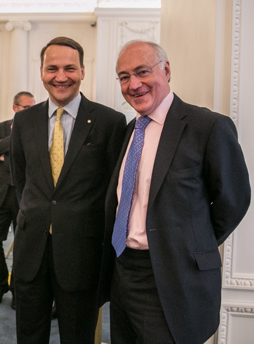 Polish Foreign Minister Radoslaw Sikorski and Atlantic Partnership President Lord Howard.