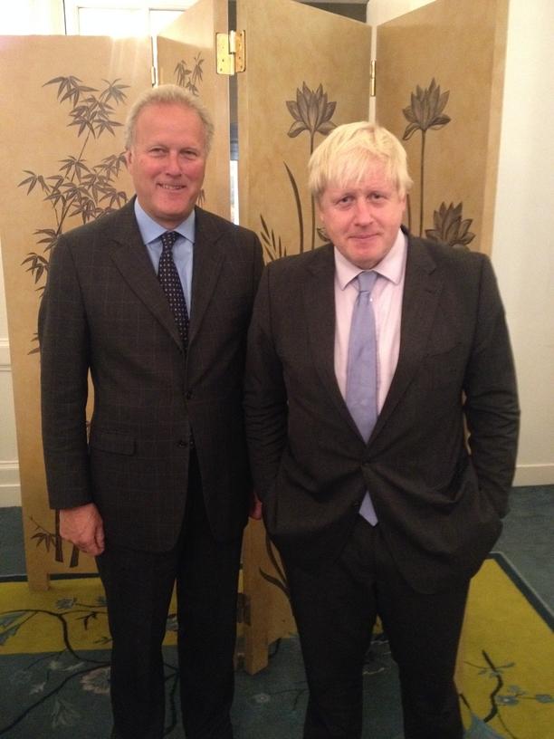Lord Marland (Treasurer, Atlantic Partnership UK) and Boris Johnson, Mayor of London